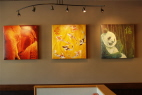 View Of Installed Prints At Wok Box